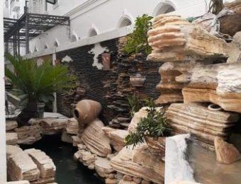 Chuyên nhận thi công tiểu cảnh sân vườn hồ Koi Quảng Ninh